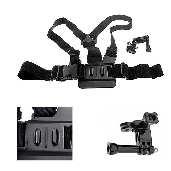 Adjustable Elastic Chest Strap Belt Harness for GoPro Hero 3+ 3 2