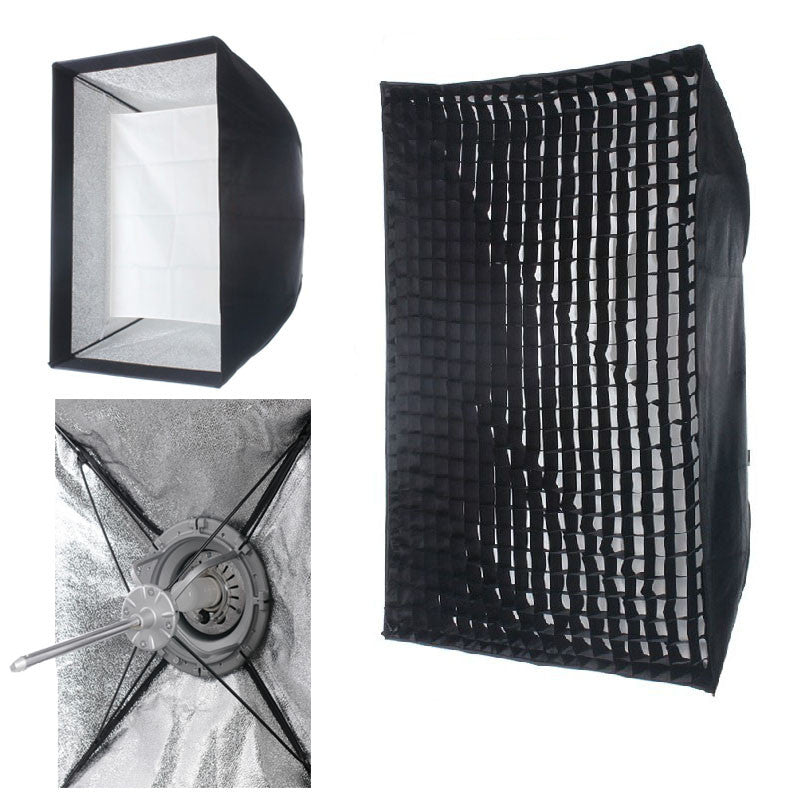 "24""X 36"" Easy Setup Carry Foldable EZ Softbox Fr Profoto With Grid"