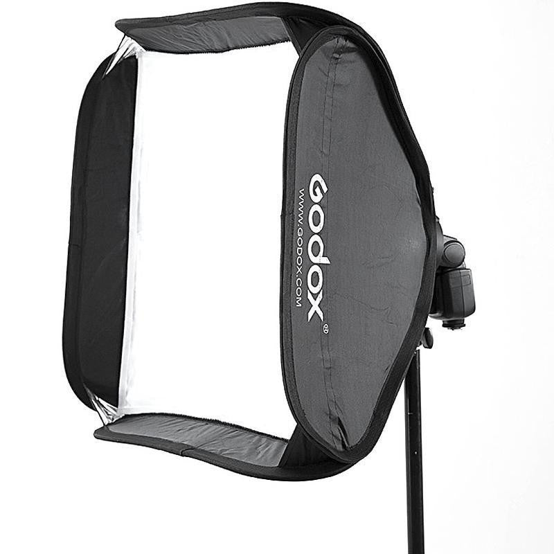 "Godox Portable Flash Softebox Kit For Speedlight Speedlite 24""X24"" with S-Type Bracket and Grids"