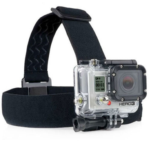Adjustable Anti-slide Glue Head Strap Mount Belt for GoPro Hero 3+ 3 2 1