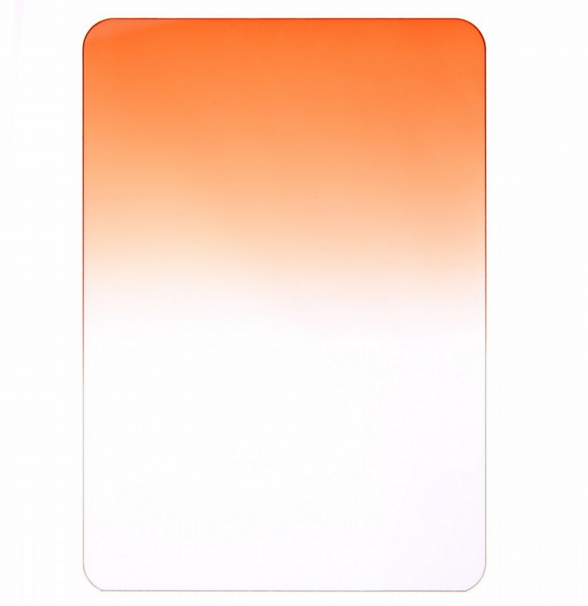 "4""x5"" /100mm x 133mm Graduated Orange Filter"