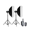 GODOX GS300 STUDIO FLASH KIT WITH SOFTBOX,FT-16 TRIGGER/REMOTE AND LIGHT STAND
