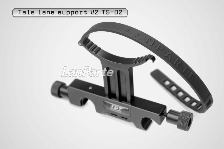 Lanparte TS-02 V2 Telescope lens Long Lens Support Bracket With 15mm Rod Clamp