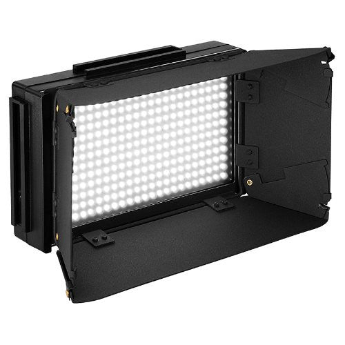 LED-312D Pro LED Video Light Kit Diammable W/ LCD ,Batteries & Barndoor