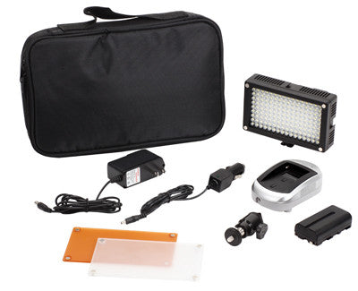 144 LED Kit video camcorder camera 3200-5600K dimmable