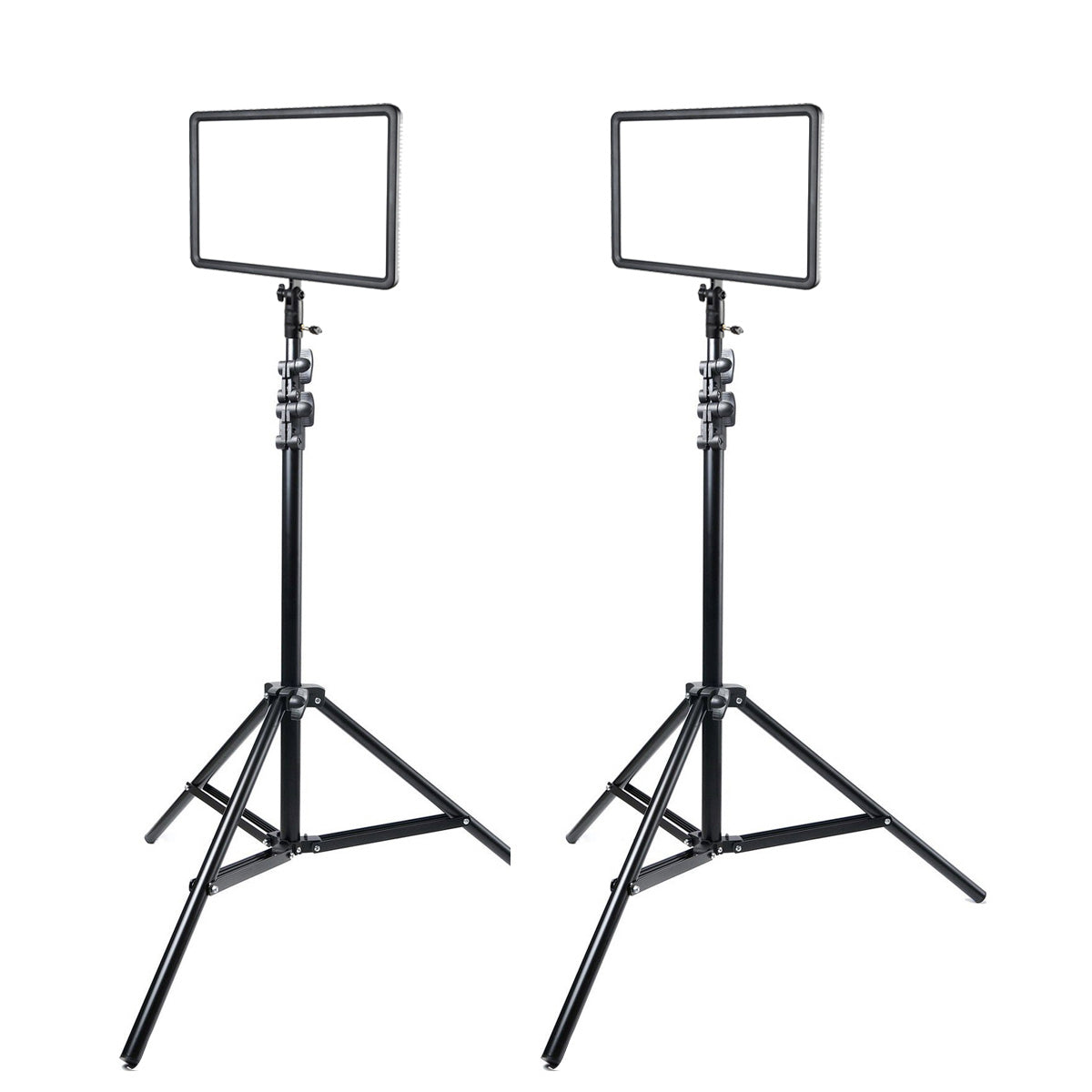 2x Godox LEDP260C Kit Ultra Slim LED Light 3300-5600k Adjustable For Camera Video with Stands