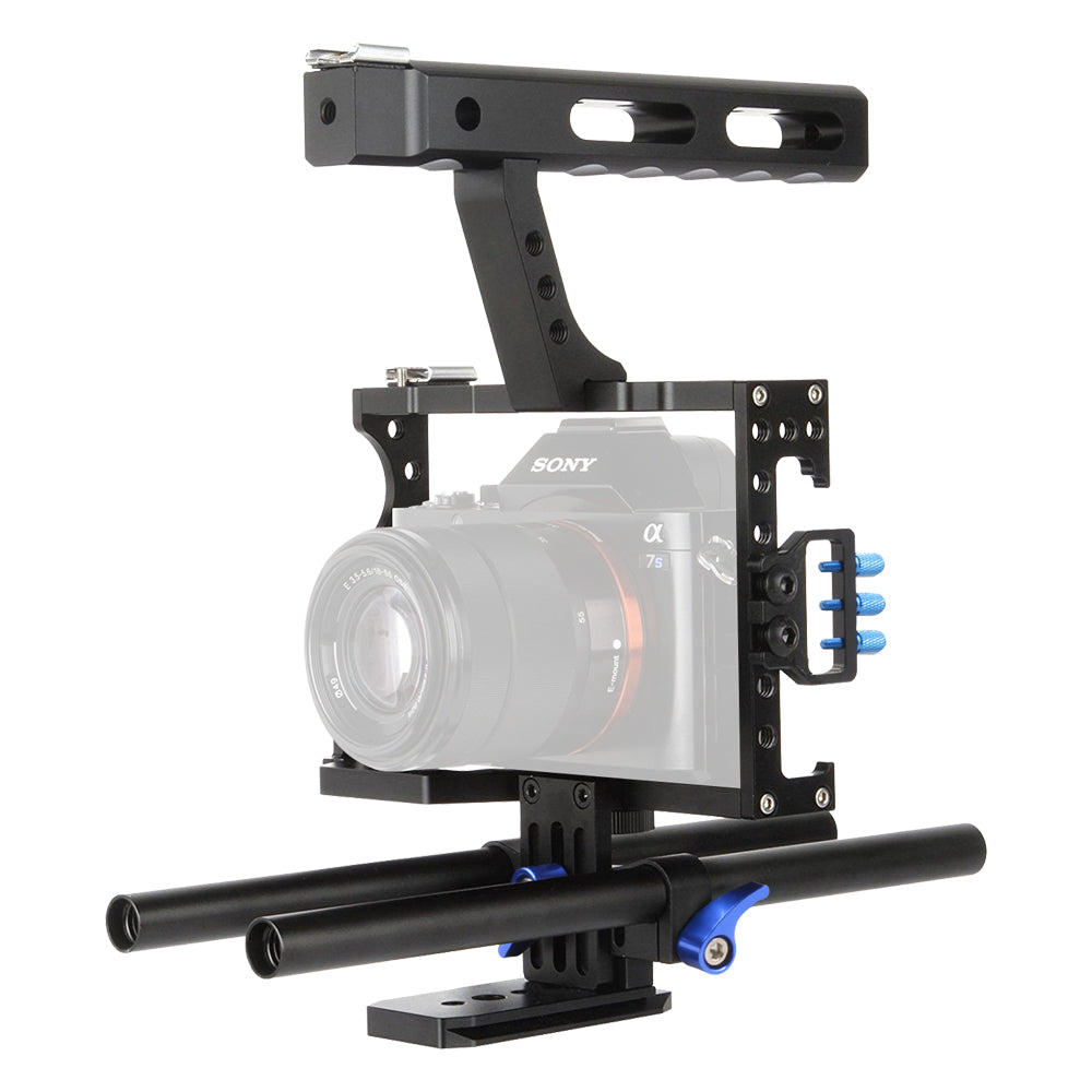 Camera Cage Kit for Sony A7,A7R,A7S,A7II,A7RII,A7SII,Panasonic GH4 with Follow Focus