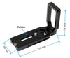 Universal L Quick Release Plate Bracket For Camera Compatible with Arca Swiss MPU100