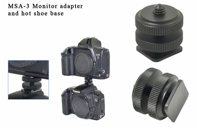 "1/4"" mount adapter for monitor to flash hot shoe"
