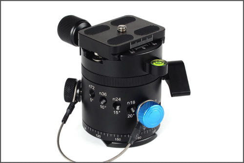 Panoramic Panorama Pano Index Rotator Tripod Head With Clamp