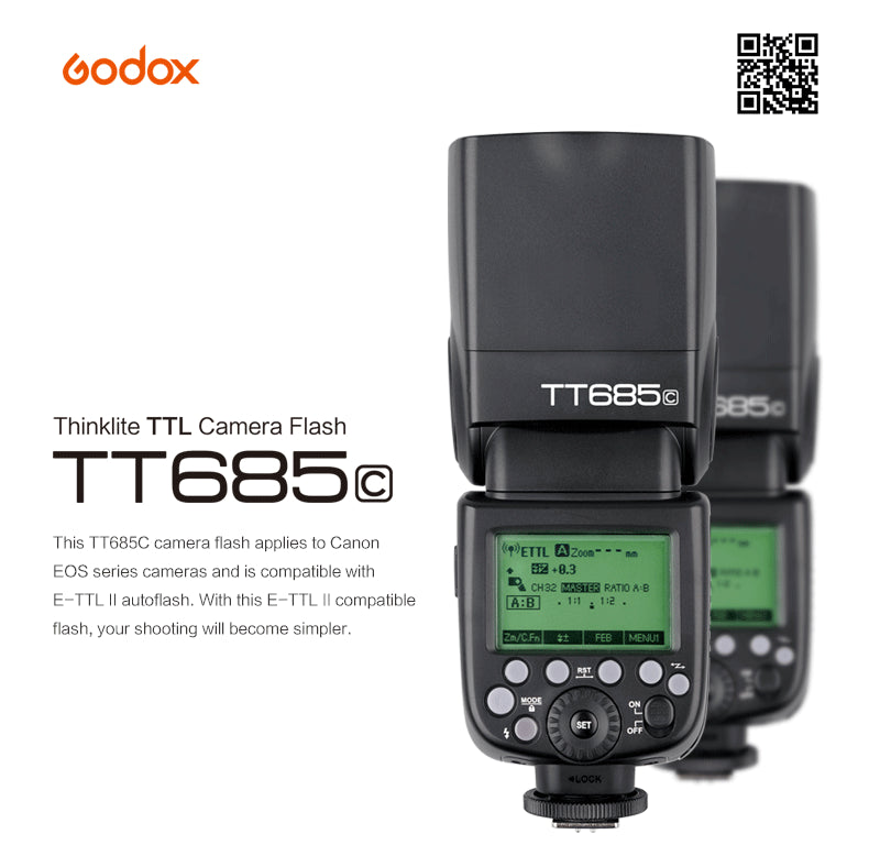 Godox TT685C 2.4G HSS E-TTL Wireless Speedlite Flash For Canon