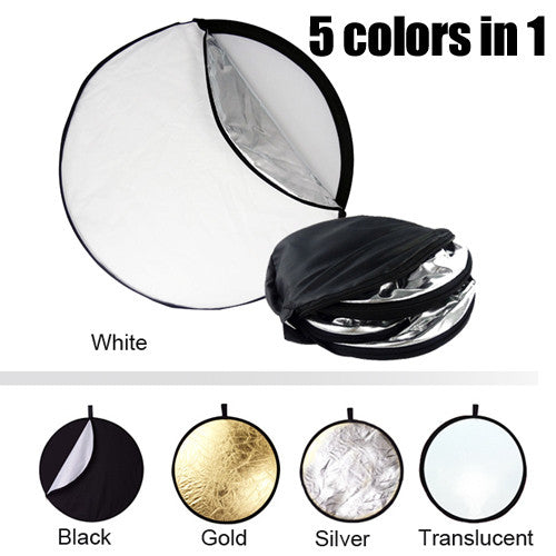 "5 in 1 Collapsible Reflector Disc 22"" / 56cm"