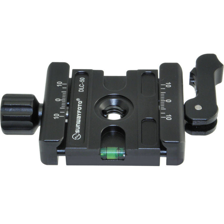 SUNWAYFOTO DLC-50 50mm Duo-Lever Clamp for Tripod Head Arca Compatible