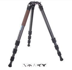 "Leofoto LN-324C Carbon Fiber Professional Tripod With 3/8"" Stud Mount Flat Plate & 60mm Bowl adapter"