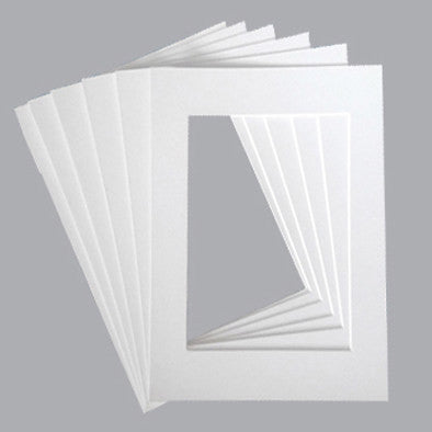 Pack of 5 sets of 12x18 White Mat Matte Board for 8x12 Photo
