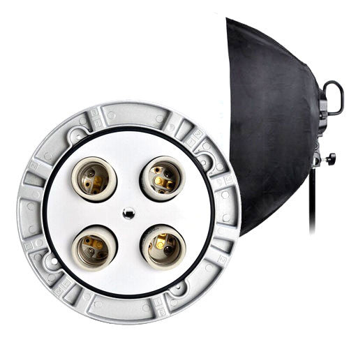 GODOX TL-4K 4 x E27 Light Socket with Softbox, Continuous Light For Studio Photography or Video