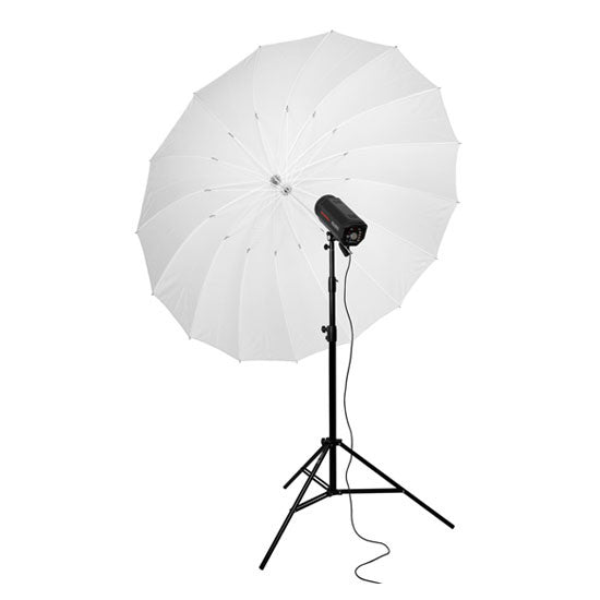 150cm 60 inch Transparent 16-Rib Parabolic Umbrella