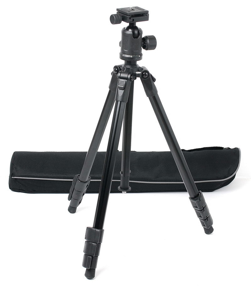 "60"" PROFESSIONAL ALUMINUM ALLOY TRIPOD BALLHEAD BAG KIT"
