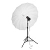 180cm 70 inch White Black 16-Rib Parabolic Umbrella