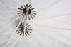 100cm 40 inch White Black 16-Rib Parabolic Umbrella