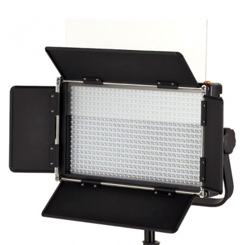 LED-500AVL Pro 500 LED Light Dimmable Photo Video Light with V-Mount,Barndoor, Touch LCD Display