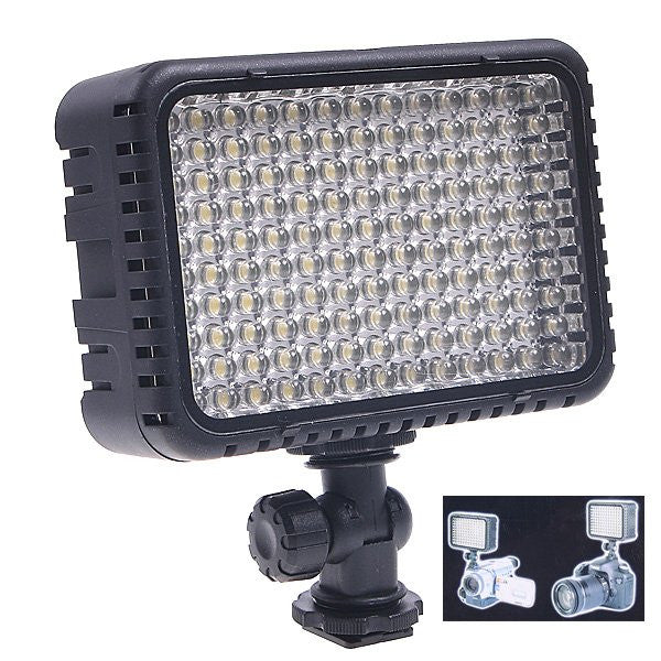 130LED LIGHTING for Video Camera Camcorder W/ Hot Shoe adapter