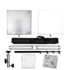 Foldeable Scrim Lighting Panel Kit Collapsible Aluminum Frame With Diffusion & Silver/White Reflector 110cm*110cm