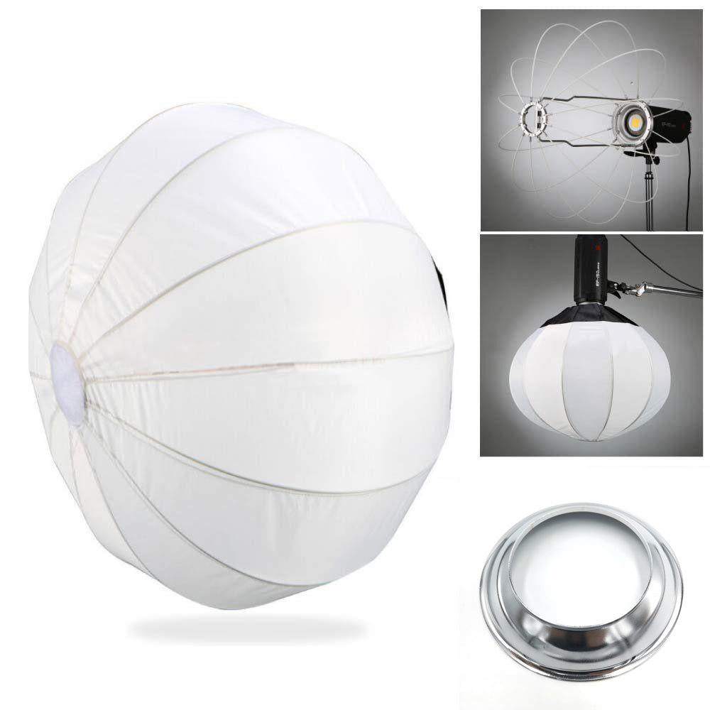 "Jinbei 65cm 25"" Folding Spherical Diffuser Softbox With Alienbees White Lighting  mount"
