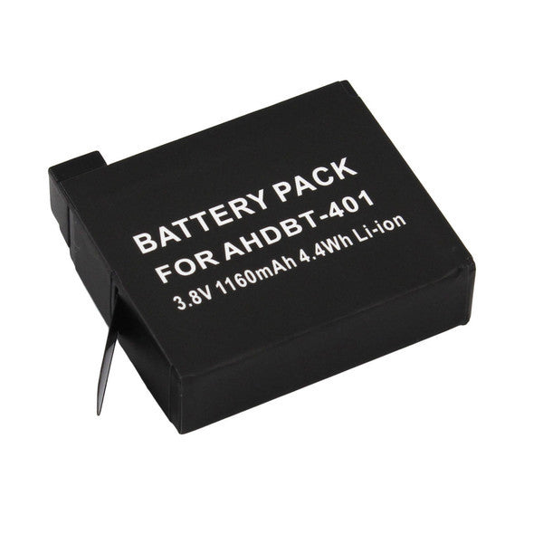 High Capacity 1160mAh Rechargeable Li-ion Replacement Battery for GoPro Hero 4