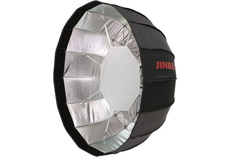 Jinbei Φ65cm Easy Umbrella Folding Beauty Dish Softbox Black/Silver Elinchrom Mount