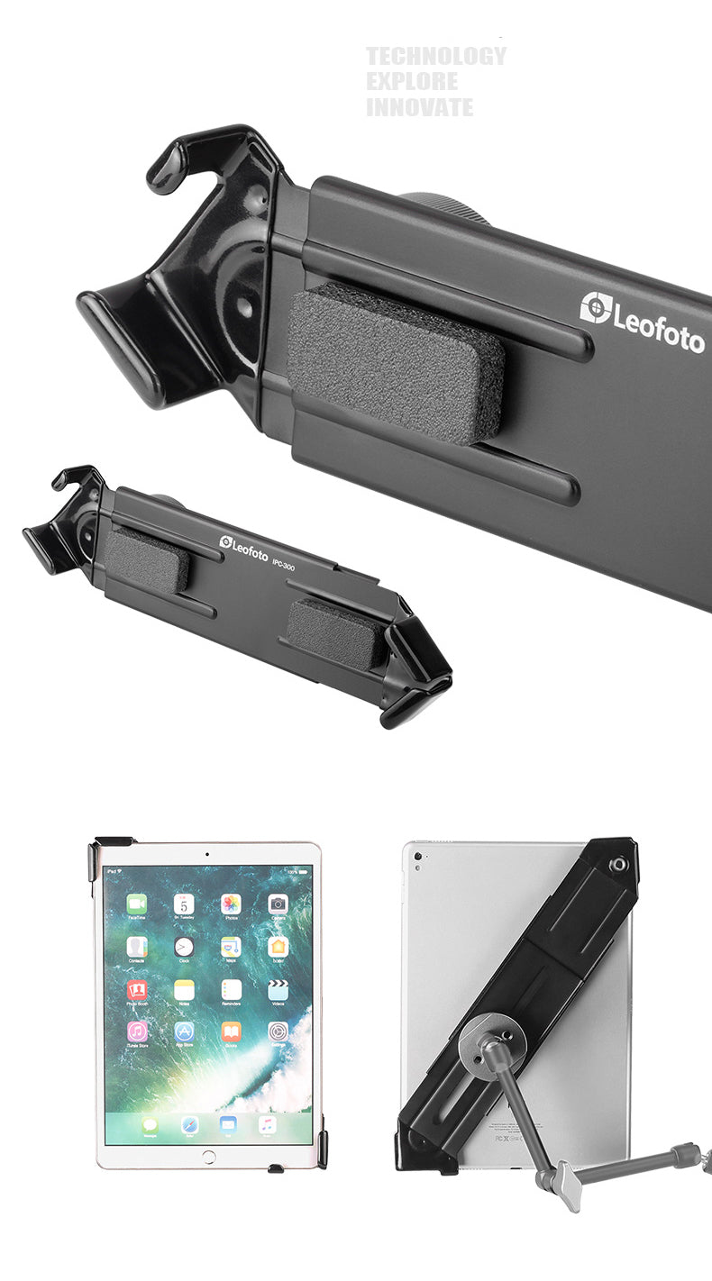 Leofoto IPC-300 Ipad Clamp Compatible with Arca Tripod Head