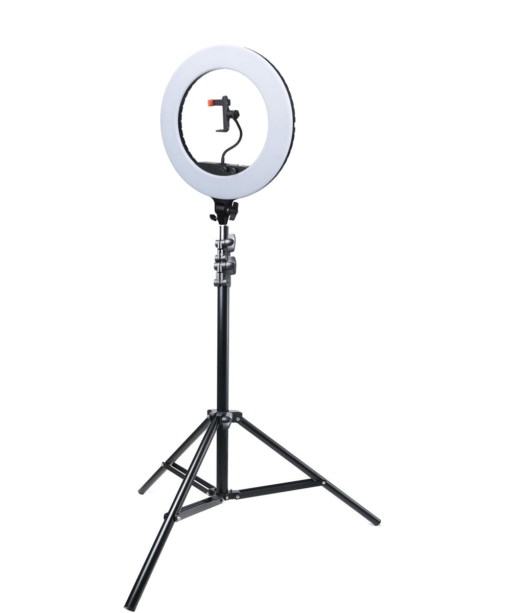 Ring Light and Stand Kit 18 Inch LED Ring Light Video Youtube Make up Lighting Bi-Color with Stand