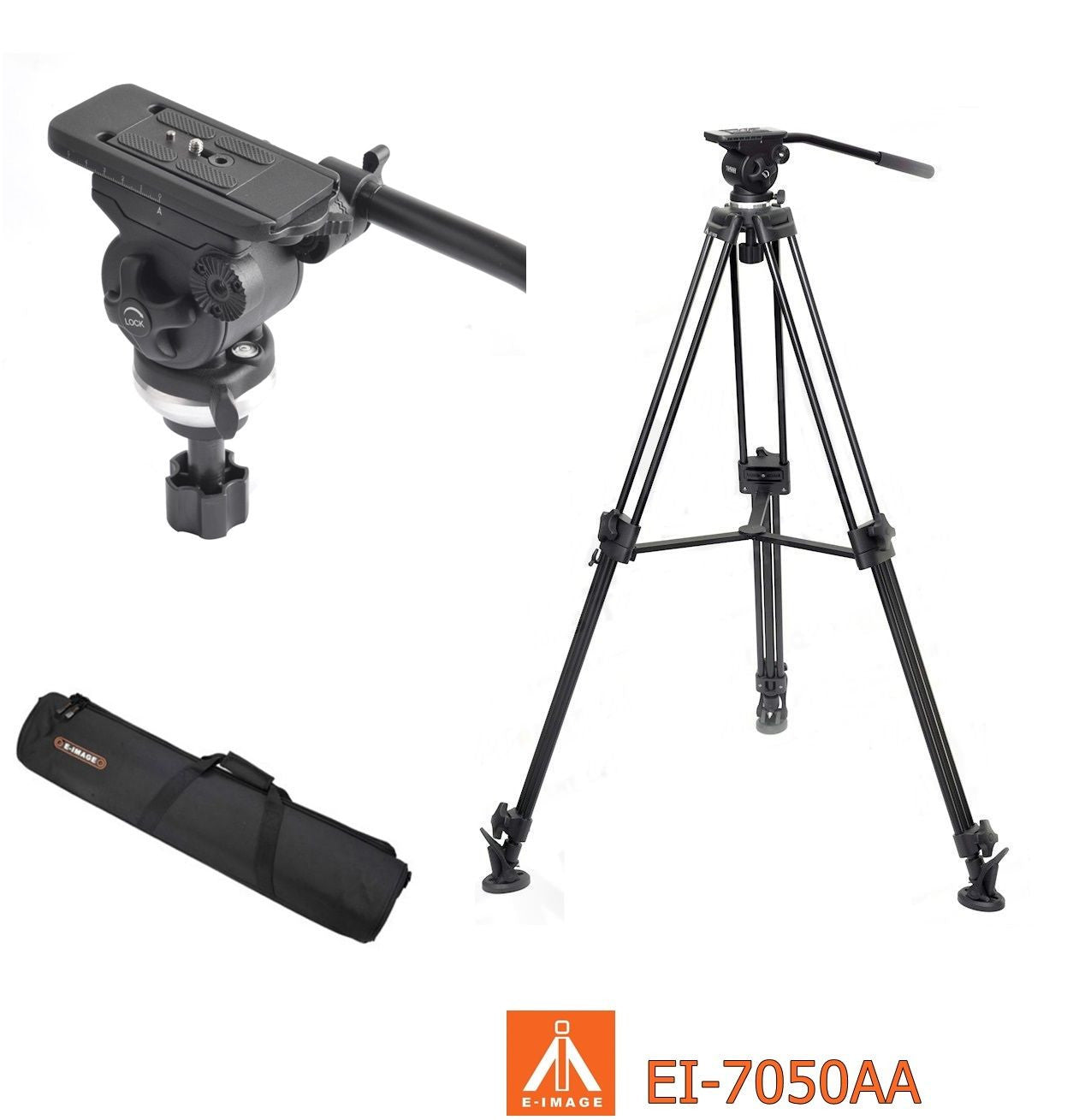 E-Image EI-7050-AA Video Tripod Kit With Fluid Head