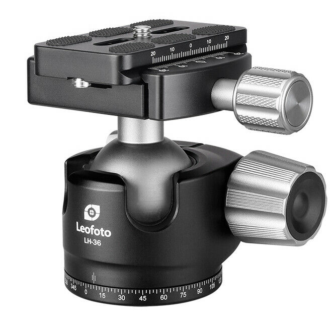 Leofoto LH-36 Low Profile Ball Head with Quick Release Plate Arca Compatible