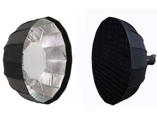 Φ65cm EZ-PRO Foldable Beauty Dish Softbox  Alienbees Einstein White Lighting Mount with Grids