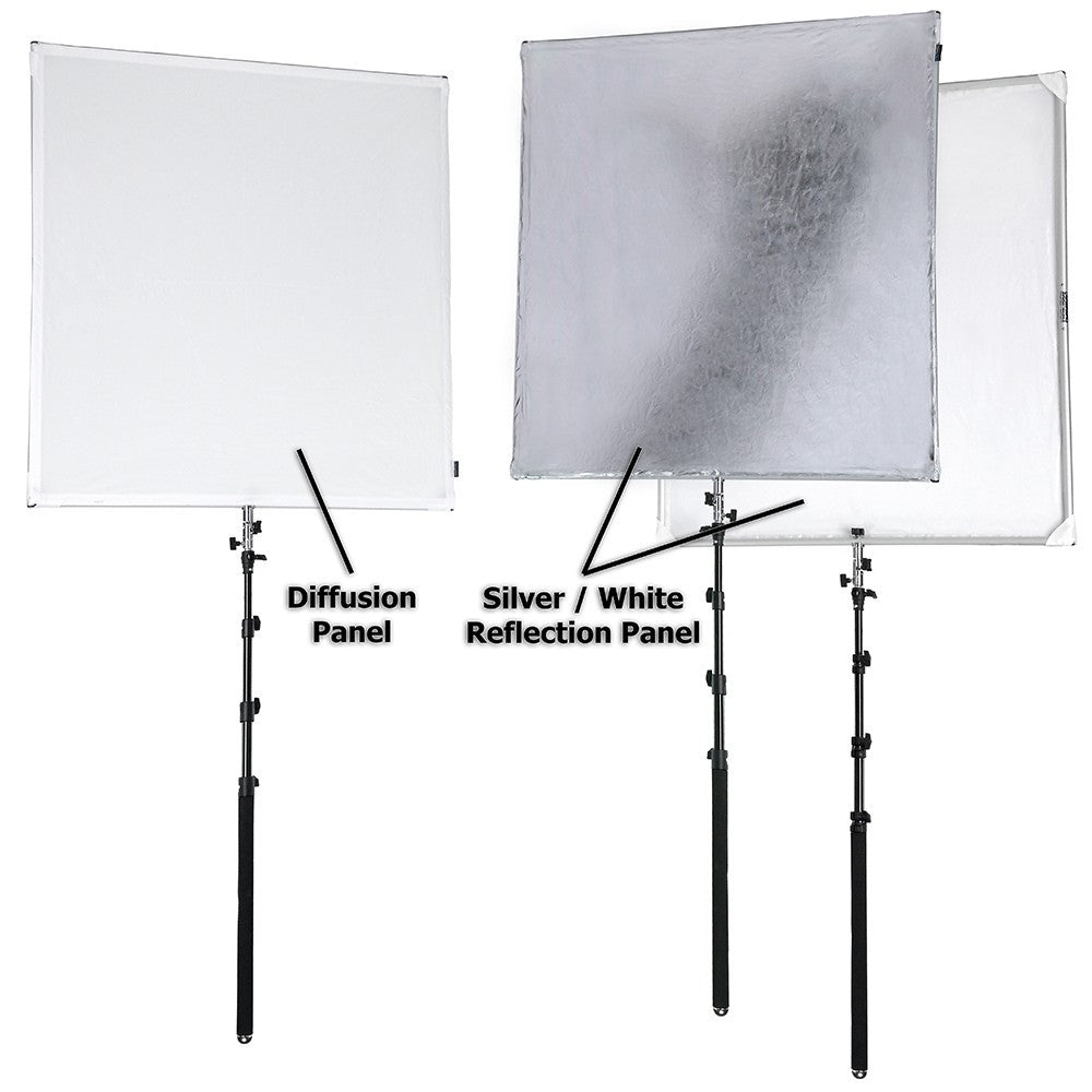 Foldeable Scrim Lighting Panel Kit Collapsible Aluminum Frame With Diffusion u0026 Silver/White Reflector 145cm  sc 1 st  Prophotographygear & Foldeable Scrim Lighting Panel Kit Collapsible Aluminum Frame With ... azcodes.com