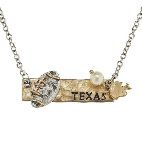 Texas Football Necklace