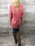 Ready For Spring Coral Top- CLOSEOUT