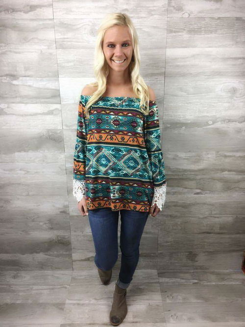 Off Shoulder Tunic Top - CLOSEOUT