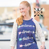 Inspirational Arrows (Believe | Love | Hope | Faith) Raglan