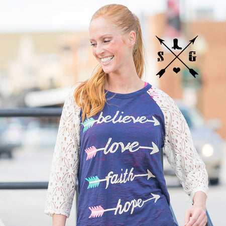 God Is Love Leopard Sleeve Raglan