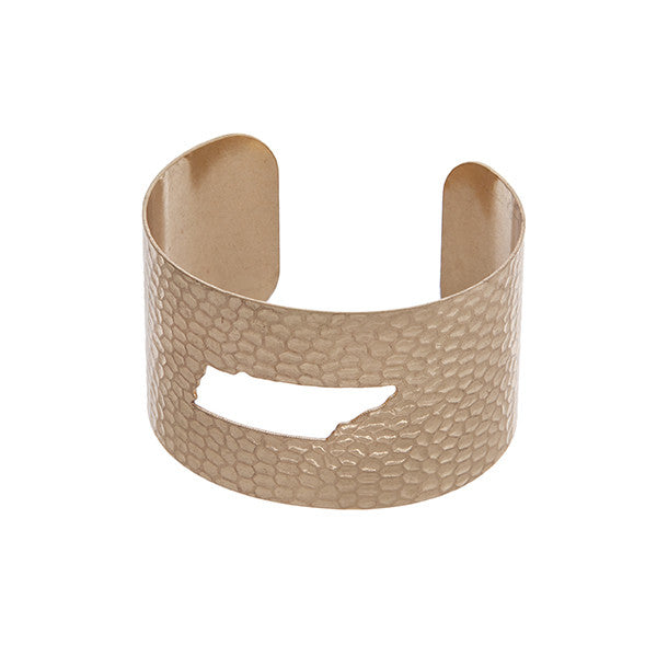 Tennessee State Cuff Bracelet in Gold