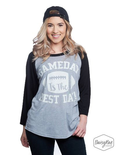 Gameday is the Best Day on Black-Sleeve Raglan