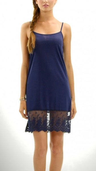 Full Dress Slip in Navy - Southern Grace Outfitters