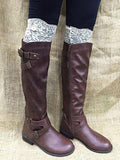 White Lace Boot Topper with Button -CLOSEOUT