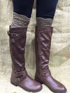 Brown Lace Boot Topper - Southern Grace Outfitters