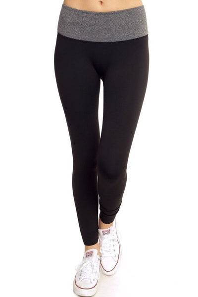 Grey Colorblock Yoga Pants