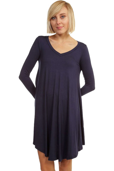 Crazy For This Girl Piko Dress in Navy