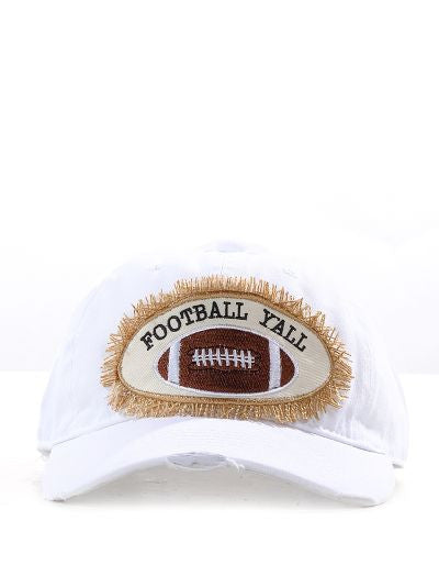 Football Y'all on White Hat