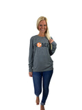 Tennessee Home on Prem Heather Grey Long Sleeve